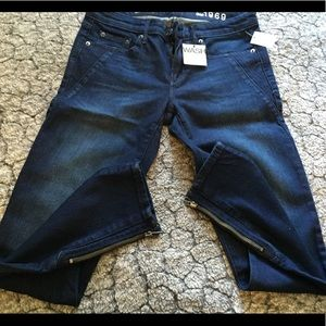 Gap dark blue skinny jeans with ankle zippers